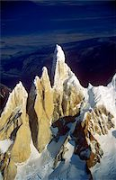 Aerial view at 3400 meters of Mount Fitzroy, Cerro Torre Range and Andes Mountains, Patagonia, Argentina Stock Photo - Premium Royalty-Freenull, Code: 6106-05473128