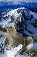 Aerial view at 3400 meters of Mount Fitzroy, Cerro Torre Range and Andes Mountains, Patagonia, Argentina Stock Photo - Premium Royalty-Freenull, Code: 6106-05473129