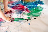 finger painting - Boy (2-3) painting by hands Stock Photo - Premium Royalty-Freenull, Code: 6106-05481772