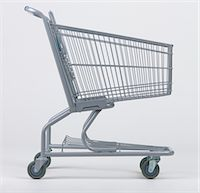 empty shopping cart - Empty grocery cart Stock Photo - Premium Royalty-Freenull, Code: 6106-05483891