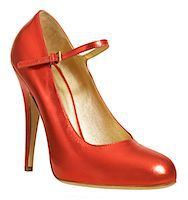 Red high heeled shoe with ankle strap, close-up Stock Photo - Premium Royalty-Freenull, Code: 6106-05485249