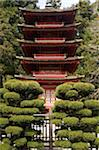 Pagoda in the Japanese Tea Garden at Golden Gate Park.  San Francisco, 2006. Stock Photo - Premium Royalty-Free, Artist: Glowimages               , Code: 6106-05486466