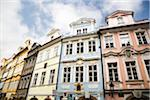 Colorful old buildings along a street in Prague. 2007. Stock Photo - Premium Royalty-Free, Artist: Robert Harding Images    , Code: 6106-05486763