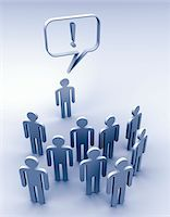 Stick figure talking to others Stock Photo - Premium Royalty-Freenull, Code: 6106-05493049