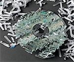 Shredded CD Stock Photo - Premium Royalty-Free, Artist: David Muir, Code: 6106-05493173