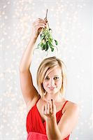 Mistletoe Desire Stock Photo - Premium Royalty-Freenull, Code: 6106-05494923