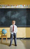 Grade 1 student in classroom Stock Photo - Premium Royalty-Freenull, Code: 6106-05495426