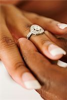 ring hand woman - Black couple getting engaged. Stock Photo - Premium Royalty-Freenull, Code: 6106-05499733