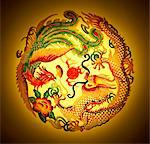 Dragon and phoenix stencil on yellow background Stock Photo - Premium Royalty-Free, Artist: Siephoto, Code: 6106-05507416