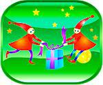 Christmas elves with presents Stock Photo - Premium Royalty-Free, Artist: ableimages, Code: 6106-05509713