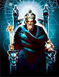 Tarot emperor representation Stock Photo - Premium Royalty-Free, Artist: Arcaid, Code: 6106-05511490