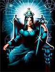 Tarot empress representation Stock Photo - Premium Royalty-Free, Artist: Oriental Touch           , Code: 6106-05511492