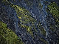 Aerial view of glacial rivers Stock Photo - Premium Royalty-Freenull, Code: 649-05520896