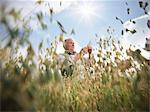 Farmer examining oat stalks in field Stock Photo - Premium Royalty-Free, Artist: foodanddrinkphotos, Code: 649-05522245
