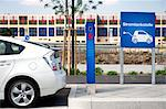 Electric vehicle charging station, Frankfurt Main, Germany Stock Photo - Premium Rights-Managed, Artist: F1Online, Code: 853-05523797