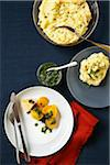 Mashed Potatoes with Chives & Roasted Yellow Beets with Herb Dressing Stock Photo - Premium Royalty-Free, Artist: Jodi Pudge, Code: 600-05524111