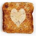 Slice of Toast with Heart Shape Stock Photo - Premium Royalty-Free, Artist: Atli Mar Hafsteinsson, Code: 600-05524173