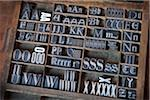Metal Letterpress A to Z in Typesetter's Drawer Stock Photo - Premium Rights-Managed, Artist: Daryl Benson, Code: 700-05524388