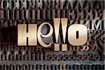 Hello Spelled with Letterpress Stock Photo - Premium Royalty-Free, Artist: Daryl Benson, Code: 600-05524402