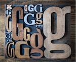 Letterpress G's Stock Photo - Premium Royalty-Free, Artist: Daryl Benson, Code: 600-05524414