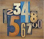Wooden Letterpress Numbers Stock Photo - Premium Royalty-Free, Artist: Daryl Benson, Code: 600-05524420