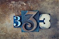 Letterpress Number 3's Stock Photo - Premium Royalty-Freenull, Code: 600-05524425