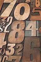 Letterpress Numbers Stock Photo - Premium Royalty-Freenull, Code: 600-05524430