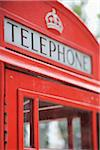 Close-Up of Red Telephone Booth, London, England Stock Photo - Premium Rights-Managed, Artist: Martin Ruegner, Code: 700-05524571