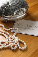 pearls invitation jewelry Stock Photo - Premium Royalty-Freenull, Code: 6106-05525680