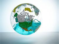 Globe with water inside Stock Photo - Premium Royalty-Freenull, Code: 6106-05540351