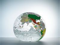 Globe with water inside Stock Photo - Premium Royalty-Freenull, Code: 6106-05540354