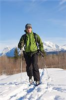 Man cross country skiing, portrait Stock Photo - Premium Royalty-Freenull, Code: 6106-05543429