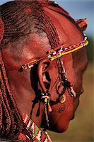 Kenya, Maasai tribesman wearing traditional tribal costume, close-up Stock Photo - Premium Royalty-Freenull, Code: 6106-05544299