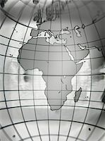 Globe with Africa prominent, close-up Stock Photo - Premium Royalty-Freenull, Code: 6106-05546524