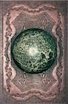 Antique globe on patterned leather, close-up Stock Photo - Premium Royalty-Free, Artist: David Muir, Code: 6106-05548911