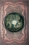 Antique globe on patterned leather Stock Photo - Premium Royalty-Free, Artist: David Muir, Code: 6106-05548912
