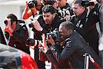 Paparazzi taking pictures Stock Photo - Premium Royalty-Freenull, Code: 635-05550040