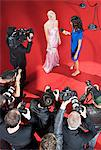 Celebrity talking to reporter on red carpet Stock Photo - Premium Royalty-Free, Artist: Blend Images, Code: 635-05550045