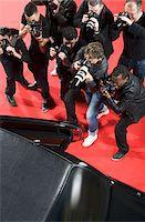 Paparazzi taking photos of celebrity's car Stock Photo - Premium Royalty-Freenull, Code: 635-05550106