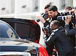 Paparazzi taking pictures of celebrity in car Stock Photo - Premium Royalty-Free, Artist: AWL Images, Code: 635-05550162