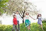 Family holding hands in park Stock Photo - Premium Royalty-Freenull, Code: 635-05550227