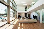 Open living space in modern house Stock Photo - Premium Royalty-Freenull, Code: 635-05550392