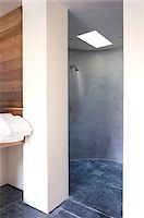 shower - Open shower in modern bathroom Stock Photo - Premium Royalty-Freenull, Code: 635-05550601