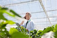 farm phone - Businessman talking on cell phone in greenhouse Stock Photo - Premium Royalty-Freenull, Code: 635-05550688