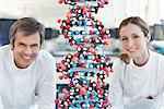 Scientists with molecular model in lab Stock Photo - Premium Royalty-Free, Artist: Andrew Douglas, Code: 635-05550886