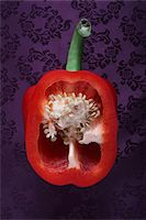 paprika - Paprika sliced in half,vegetable image Stock Photo - Premium Royalty-Freenull, Code: 618-05551290