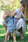 Mother and baby bonding outdoors Stock Photo - Premium Royalty-Free, Artist: Raymond Forbes, Code: 632-05553961