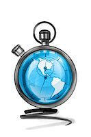 stop watch - Globe in stopwatch Stock Photo - Premium Royalty-Freenull, Code: 632-05554229