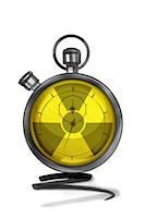 stop watch - Stopwatch with radiation warning symbol Stock Photo - Premium Royalty-Freenull, Code: 632-05554245