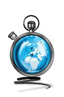 stop watch - Globe in stopwatch Stock Photo - Premium Royalty-Freenull, Code: 632-05554273